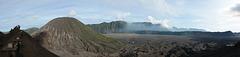 Mount Batok (2470m) and Tengger Caldera Viewed from Caldera of Bromo Volcano (2329m)