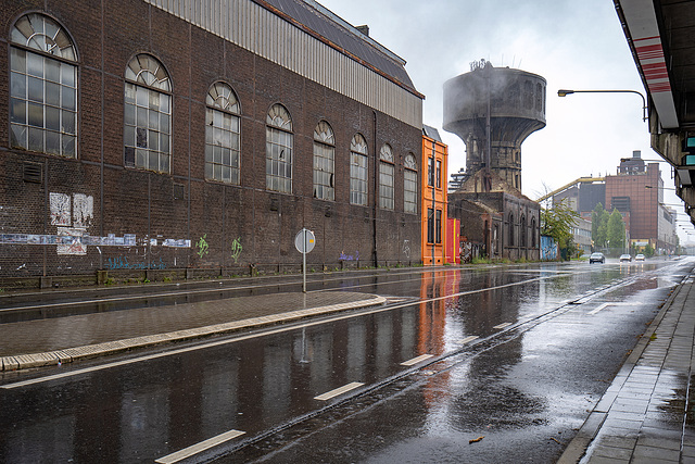 a rainy day in Charleroi