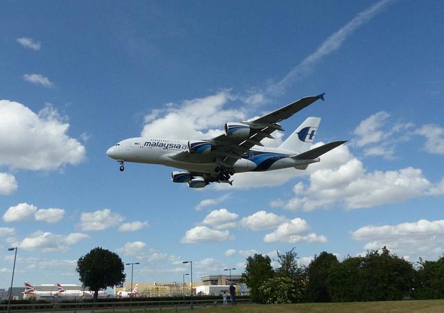 9M-MNE approaching Heathrow - 6 June 2015