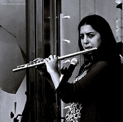 playing the side-blown flute