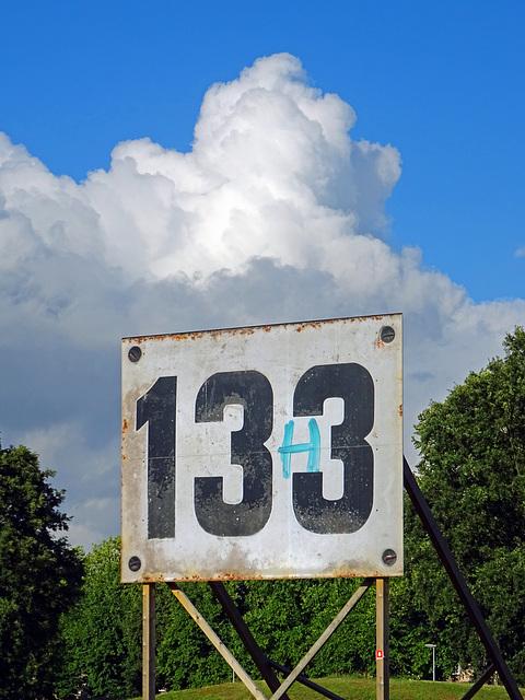 Print van huisnummerplaatje op Billboardformaat ! Heerlen Meezenbroek_Netherlands