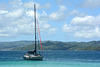 Dominican Republic, Yacht off the Сoast of Bacardi Island