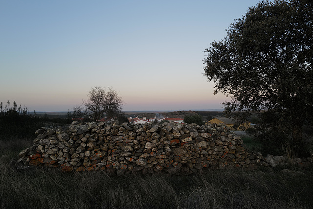 Penedos, Night and Peace coming over the village