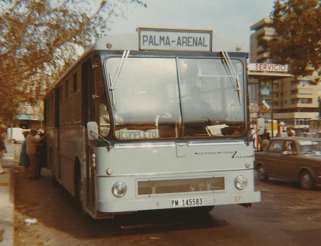 Ferrocarriles de Mallorca PM 145583 - Nov 1970