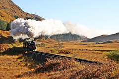 "LNER class K1 no 62005 "" Lord of the Isles "" pulls the Jacobite nr Glenfinnan"