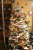Christmas tree in shop-window.