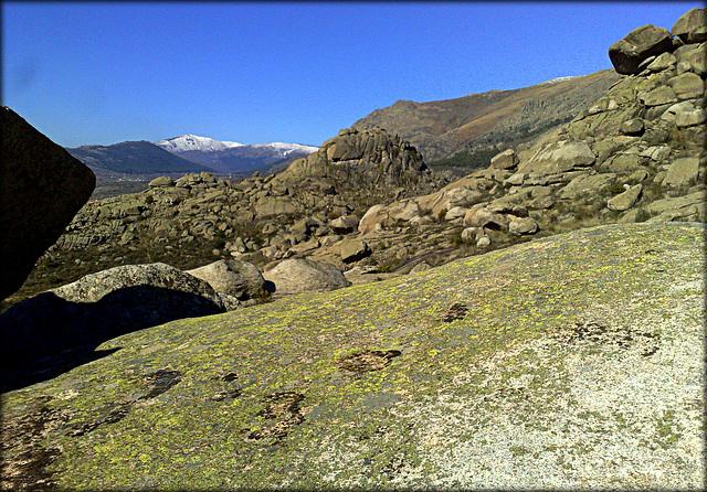 La Sierra de La Cabrera - granite, and snow on the peaks