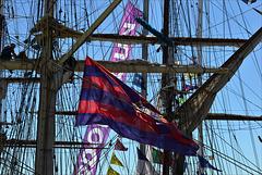 Lisboa, Tall ships race, teias, toiles, nets...