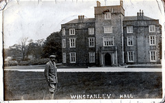 Winstanley Hall, Wigan, Greater Manchester c1915 (now a ruin)