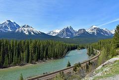 Am Bow River im Banff National Park, Kanada