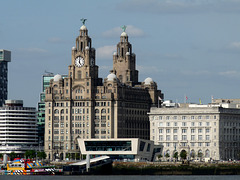 Liverpool- Pier Head Ferry Terminal and Royal Liver Building