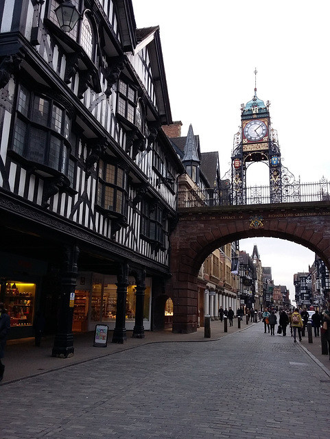 2, foregate and the eastgate clock, chester