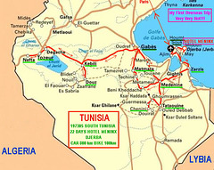 197305 Tunisia1 South Trip Map
