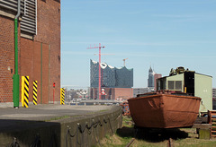 Blick vom Bremer Kai (Hafenmuseum)