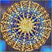 Oggetti appesi : i tre grandi lampadari Svarowski nella lussuosa moskea di Abu Dhabi  :  in oro 24 carati e 10 mt. di diametro - peso 9 tonnellate -