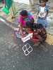 Drawing a rangoli