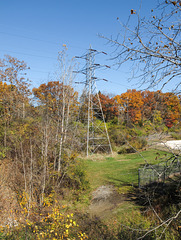 Autumnal transmission tower in delightful Michigan.