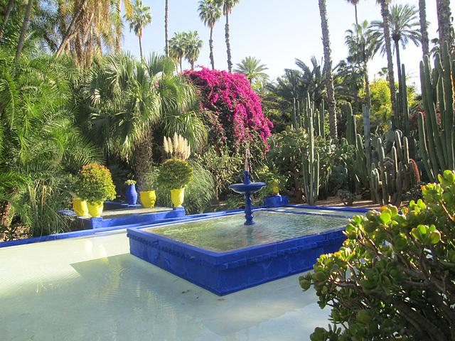 Jardin Majorelle fontaine à  Marrakech