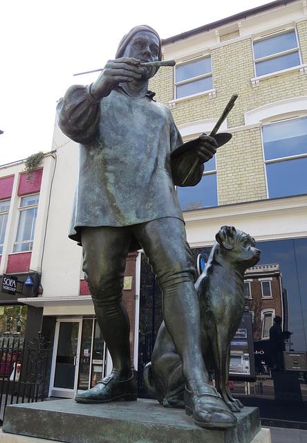 hogarth statue, chiswick, london