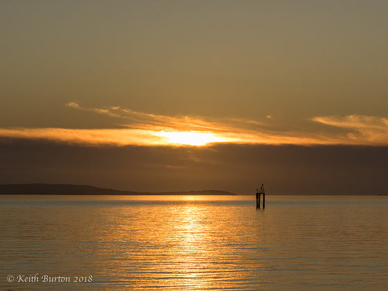 Sunset at Lepe Country Park