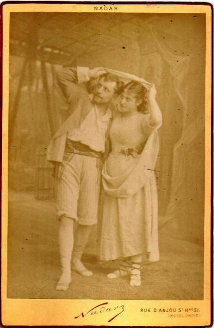 Victor Capoul & Marie Heilbronn by Nadar