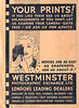 Movie camera advert on Westminster Photographic Exchange Ltd print wallet early 1940s
