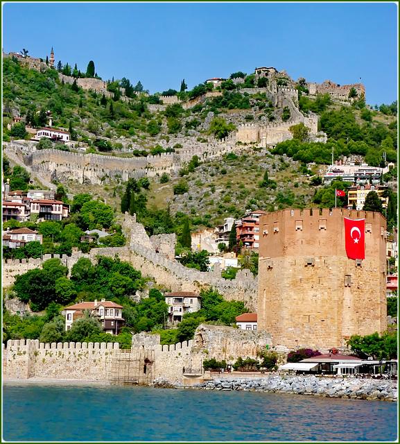 Turchia : le fortificazioni di Alanja
