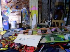 The studio of Bordalo II.