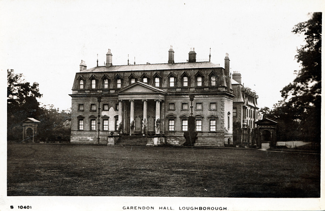 Garendon Hall, Leicestershire (Demolished 1964)