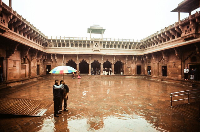 Rain in Agra Fort