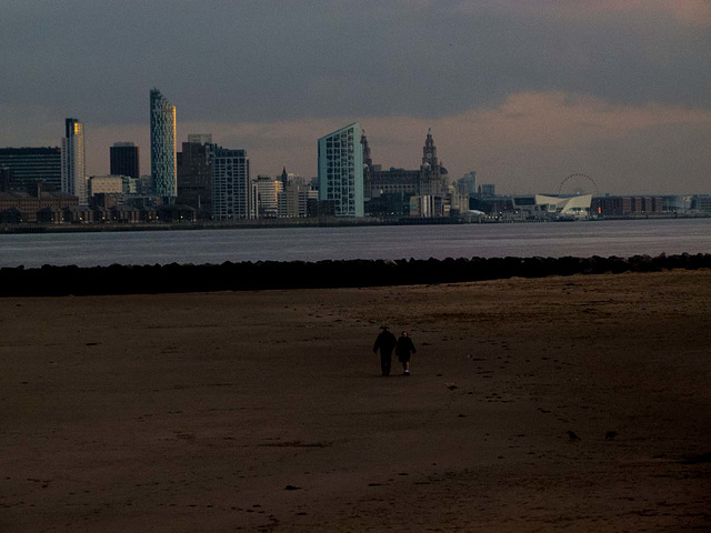 River Mersey with Liverpool