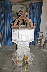 Font, Earl Soham Church, Suffolk