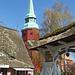 Der Glockenturm von St.  Martini et Nicolai in Steinkirchen