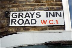 Grays Inn Road sign