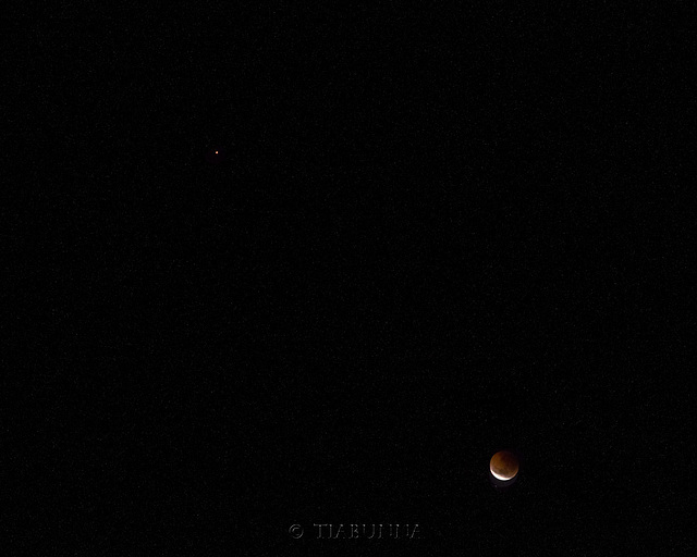 Mars and eclipse