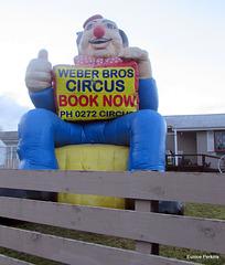 Weber Bros Circus Billboard