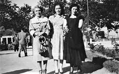 My Mother, first from left, with two friends (circa 1950)