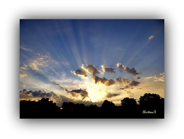 Clin d'oeil céleste de bon matin  ***   Celestial Wink in the morning