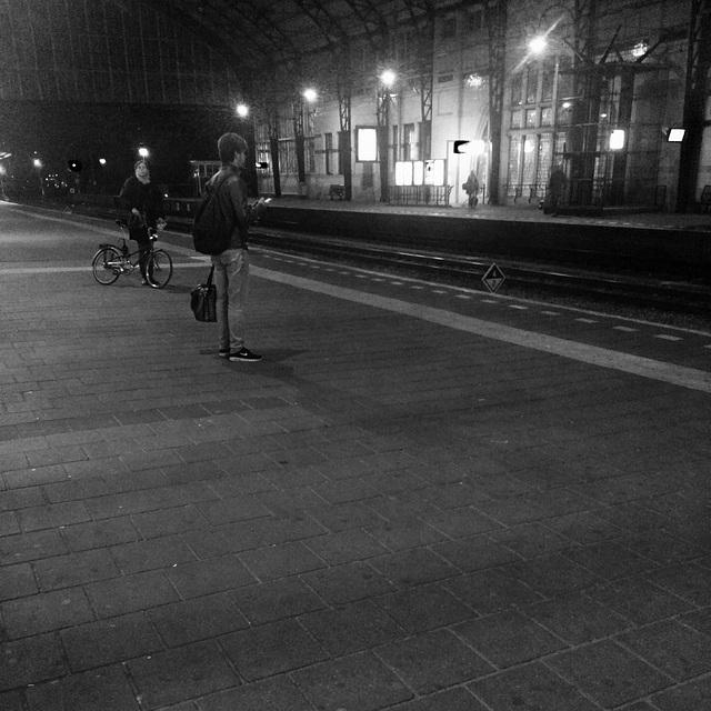 Waiting at Haarlem
