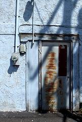 Shadows on a door