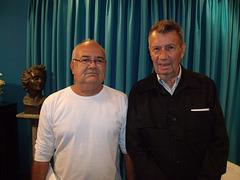 O professor Gedson Soares com o jornalista Gentil da Costa Lima