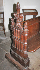 Pew, Earl Soham Church, Suffolk