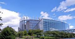 Strasbourg (67) 8 août 2011. Parlement Européen de Strasbourg.