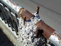 Rusting and crumbling