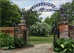 Gateway to the Manor House Garden, Upton Grey, Hampshire...