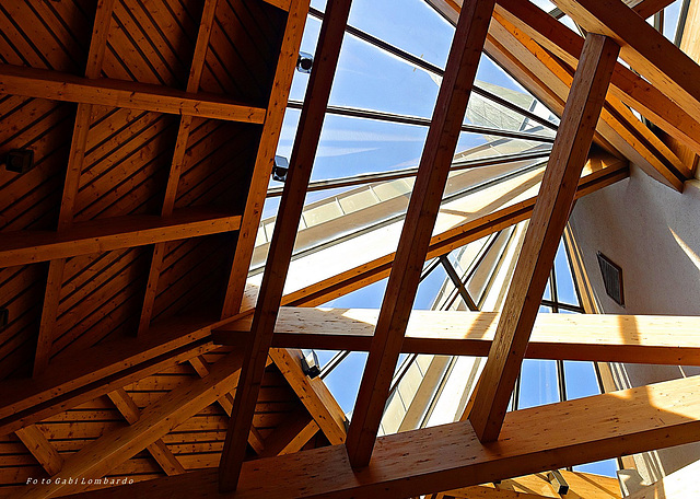 the inner face of a roof