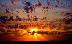 Sunrise over Hortaleza, Madrid