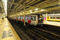 Metro train at Amstelstation