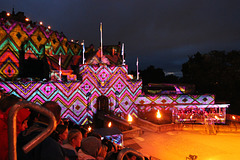 Light display on the castle walls ~  The Royal Edinburgh Military Tattoo  ~ 2018