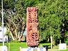 Maori Carving at Kawhia.